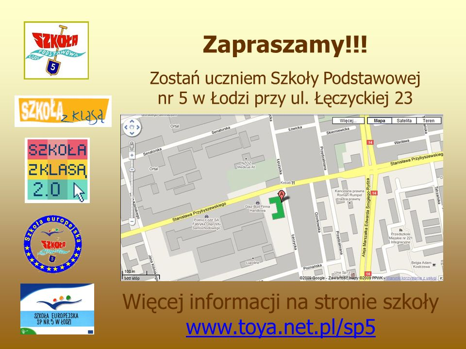 Zapraszamy!!. Zostań uczniem Szkoły Podstawowej nr 5 w Łodzi przy ul.