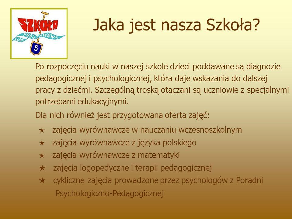 Po rozpoczęciu nauki w naszej szkole dzieci poddawane są diagnozie pedagogicznej i psychologicznej, która daje wskazania do dalszej pracy z dziećmi. S