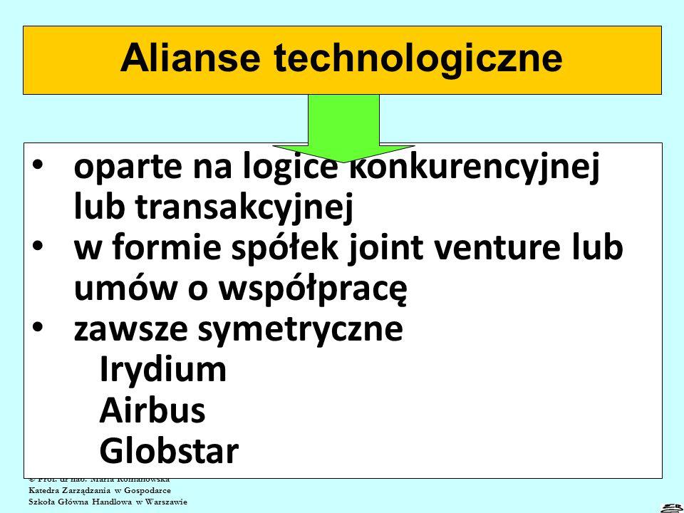 Alians niesymetryczny firmy globalnej z firmą lokalną lub regionalną © Prof.