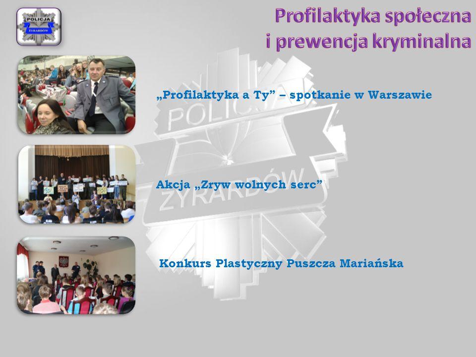 """Akcja """"Zryw wolnych serc"""" """"Profilaktyka a Ty"""" – spotkanie w Warszawie Konkurs Plastyczny Puszcza Mariańska"""