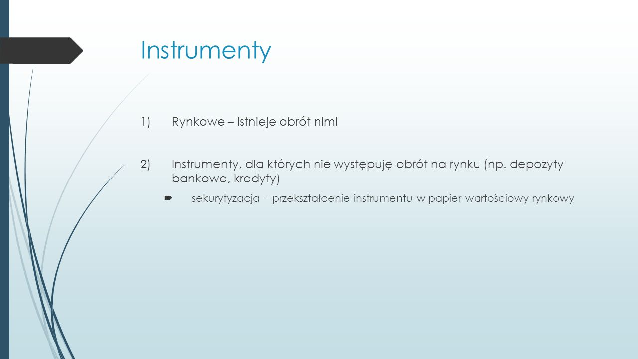 Instrumenty typowe dla rynku nieruchomości