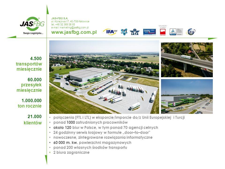 SPEDYTOR KRAJOWY CAŁOPOJAZDOWY kluczowe kompetencje www.jasfbg.com.pl