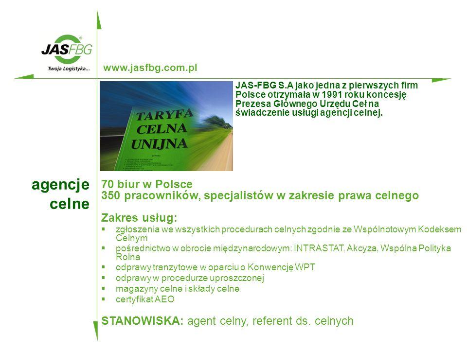 www.jasfbg.com.pl SPEDYTOR MIĘDZYNARODOWY DROBNICOWY kluczowe kompetencje