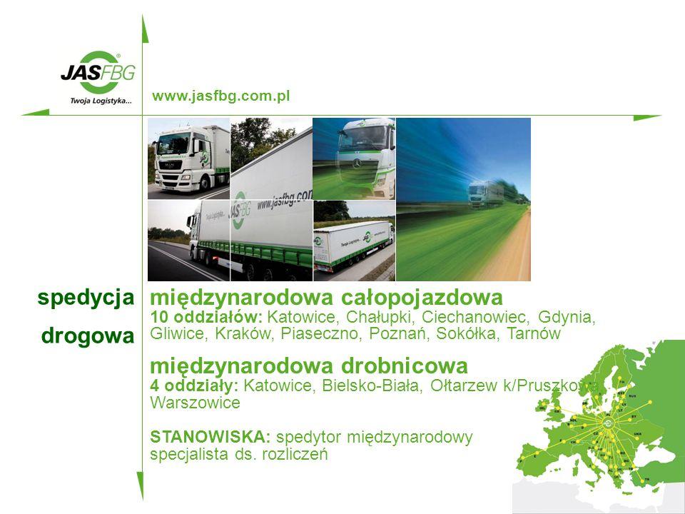 transport  transport to 200 własnych, nowoczesnych ciągników, w ramach Grupy Kapitałowej  wszystkie ciągniki posiadają telematyczne systemy kontroli transportu, umożliwiające klientowi sprawdzenie w dowolnej chwili, za pośrednictwem strony internetowej www.jasfbg.com.pl, co dzieje się z jego przesyłką  JAS-FBG S.A.