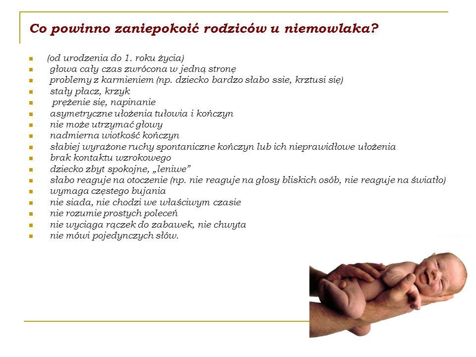 Co powinno zaniepokoić rodziców u niemowlaka. (od urodzenia do 1.