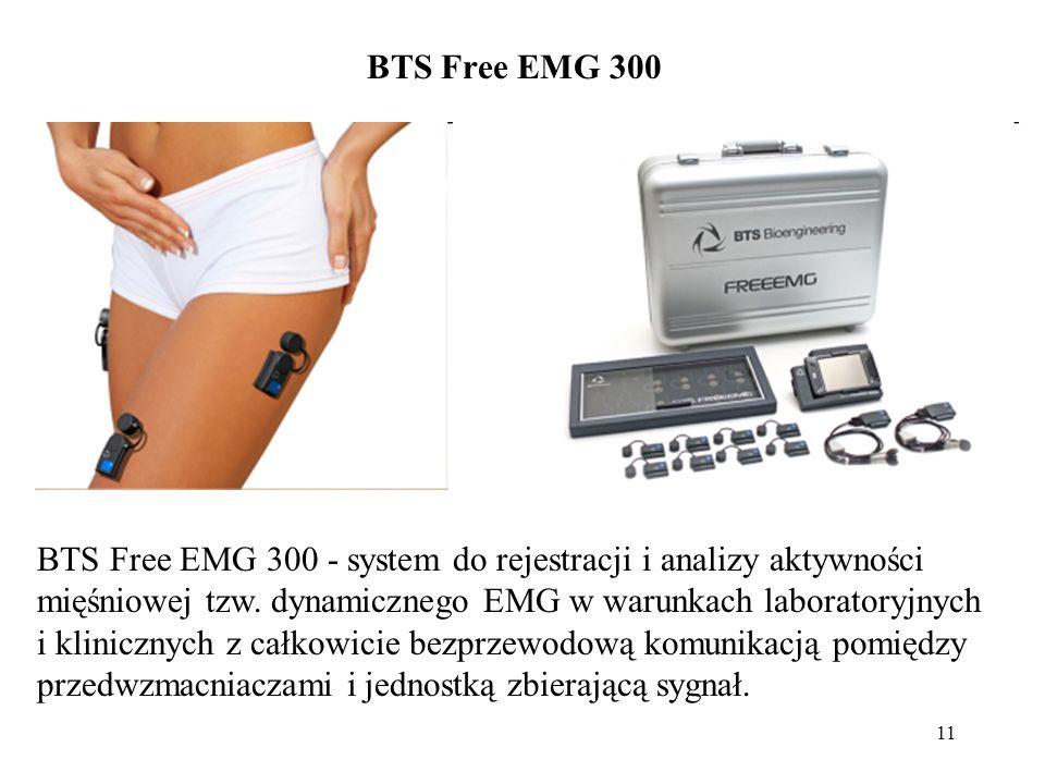 11 BTS Free EMG 300 - system do rejestracji i analizy aktywności mięśniowej tzw. dynamicznego EMG w warunkach laboratoryjnych i klinicznych z całkowic