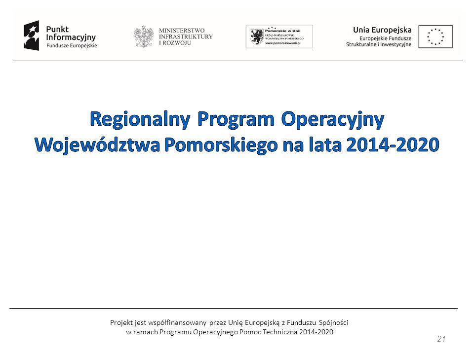 Projekt jest współfinansowany przez Unię Europejską z Funduszu Spójności w ramach Programu Operacyjnego Pomoc Techniczna 2014-2020 21