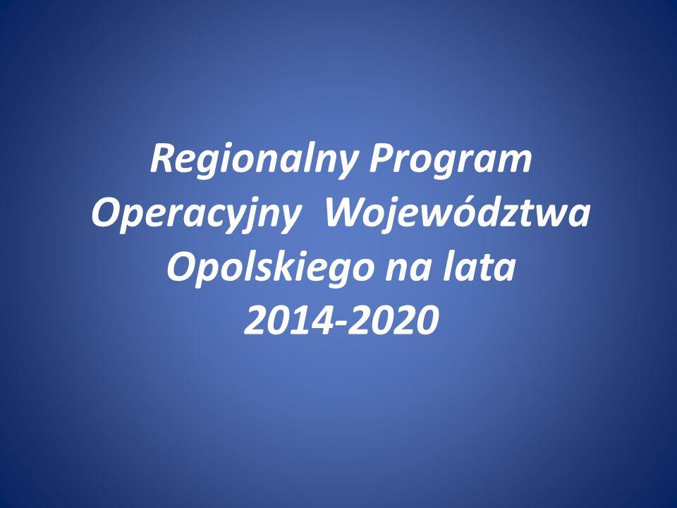 Regionalny Program Operacyjny Województwa Opolskiego na lata 2014-2020