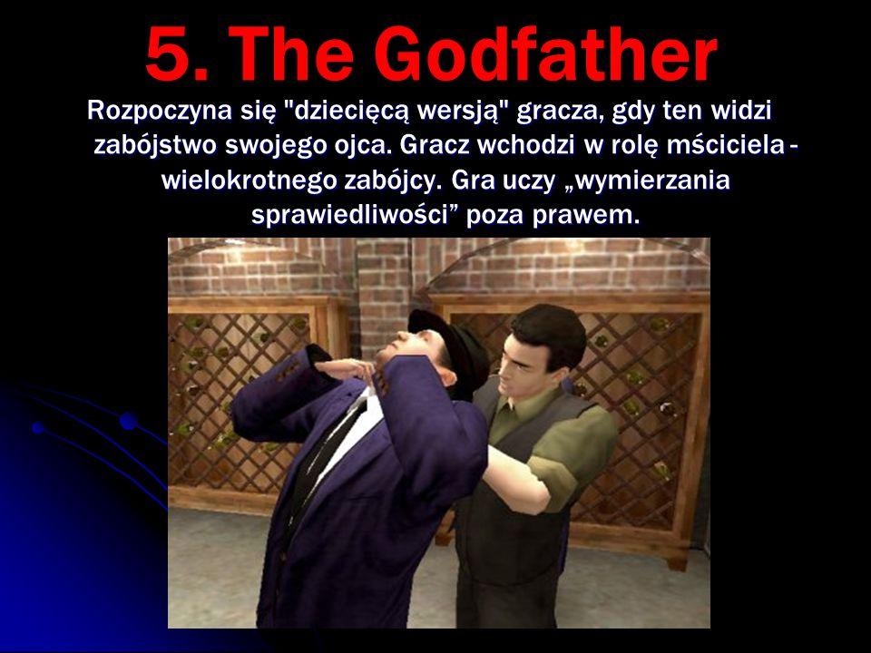 5. The Godfather Rozpoczyna się dziecięcą wersją gracza, gdy ten widzi zabójstwo swojego ojca.