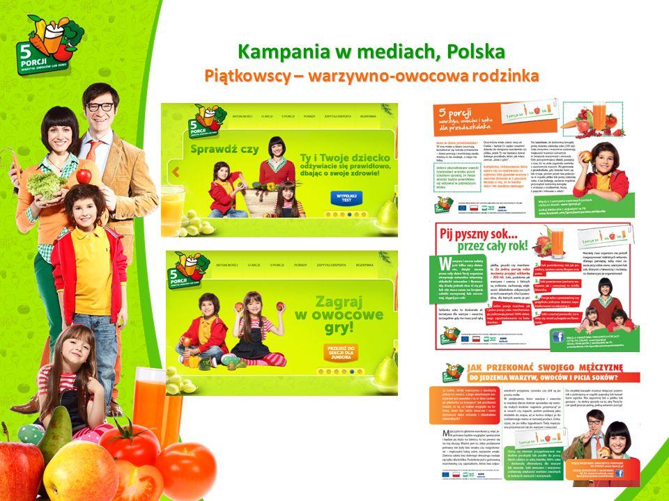 Kampania w mediach, Polska Piątkowscy – warzywno-owocowa rodzinka