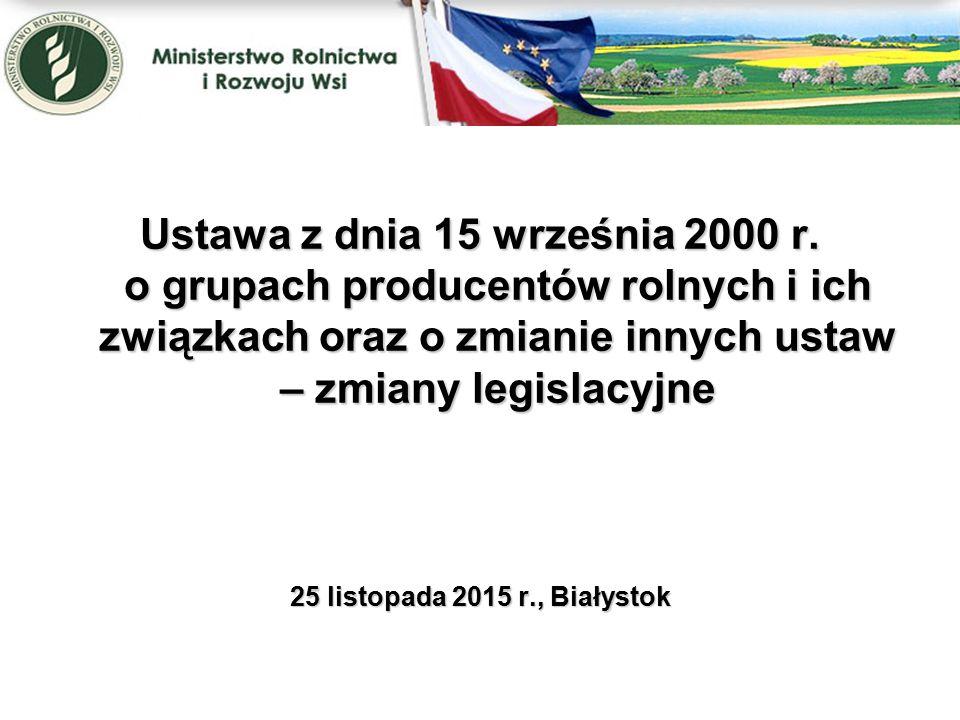 Ustawa z dnia 11 września 2015 r.
