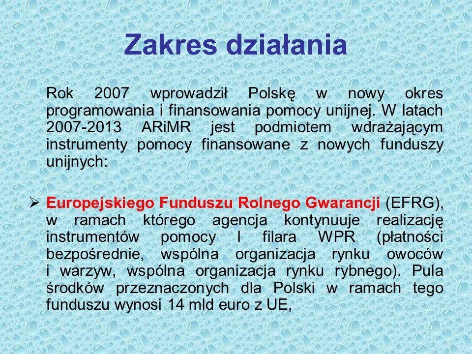 Zakres działania Rok 2007 wprowadził Polskę w nowy okres programowania i finansowania pomocy unijnej.