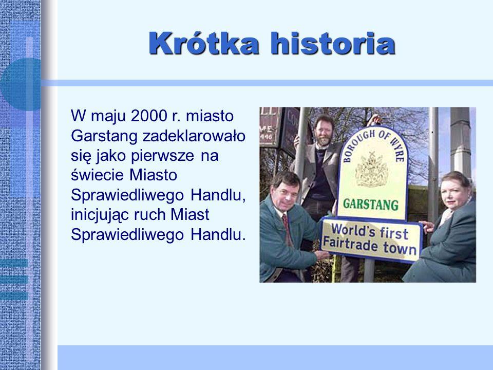 Krótka historia W maju 2000 r.