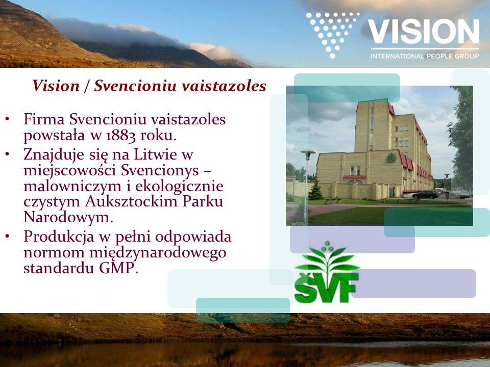 Firma Svencioniu vaistazoles powstała w 1883 roku. Znajduje się na Litwie w miejscowości Svencionys – malowniczym i ekologicznie czystym Auksztockim P
