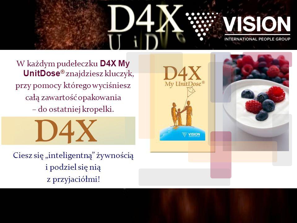 W każdym pudełeczku D4X My UnitDose ® znajdziesz kluczyk, przy pomocy którego wyciśniesz całą zawartość opakowania – do ostatniej kropelki.