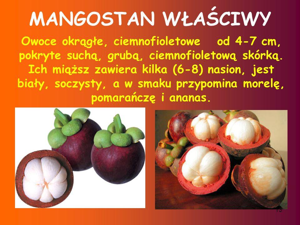 12 MANGO Owoc mango jest bogaty w witaminy C,B i E.