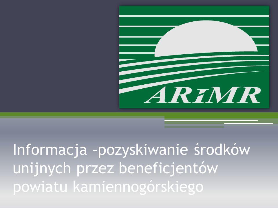 Informacja –pozyskiwanie środków unijnych przez beneficjentów powiatu kamiennogórskiego