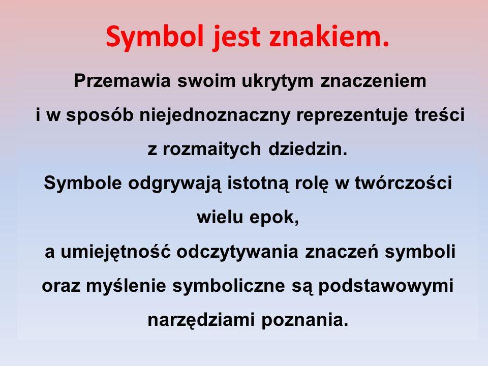 Symbol jest znakiem.