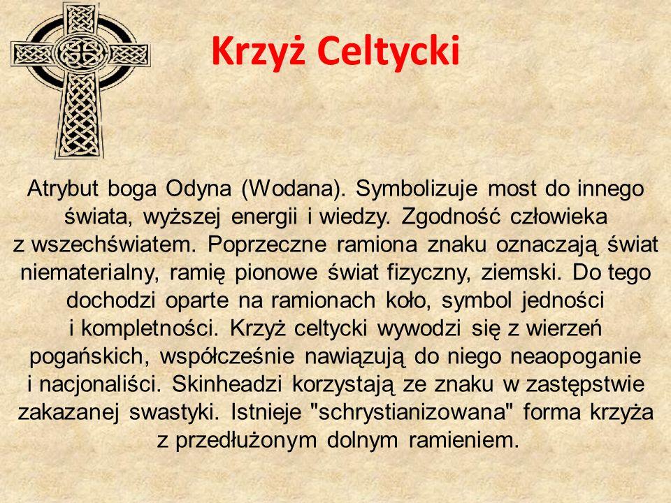 Krzyż Celtycki Atrybut boga Odyna (Wodana).
