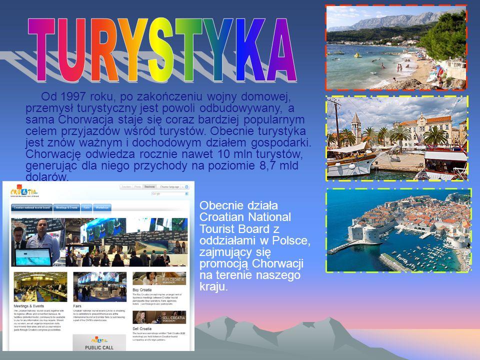 Od 1997 roku, po zakończeniu wojny domowej, przemysł turystyczny jest powoli odbudowywany, a sama Chorwacja staje się coraz bardziej popularnym celem