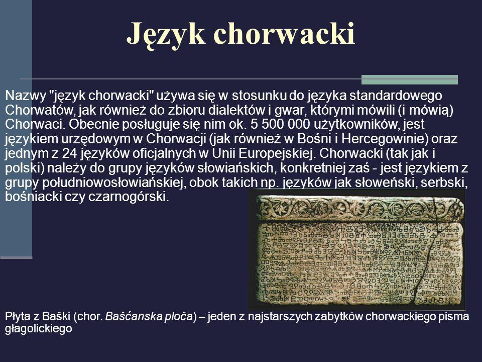 Język chorwacki Nazwy
