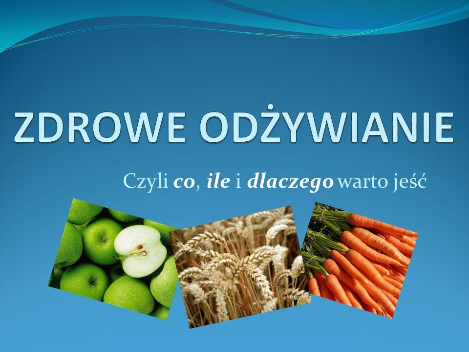 ZASADY ZDROWEGO ŻYWIENIA Dbaj o różnorodność spożywanych produktów.