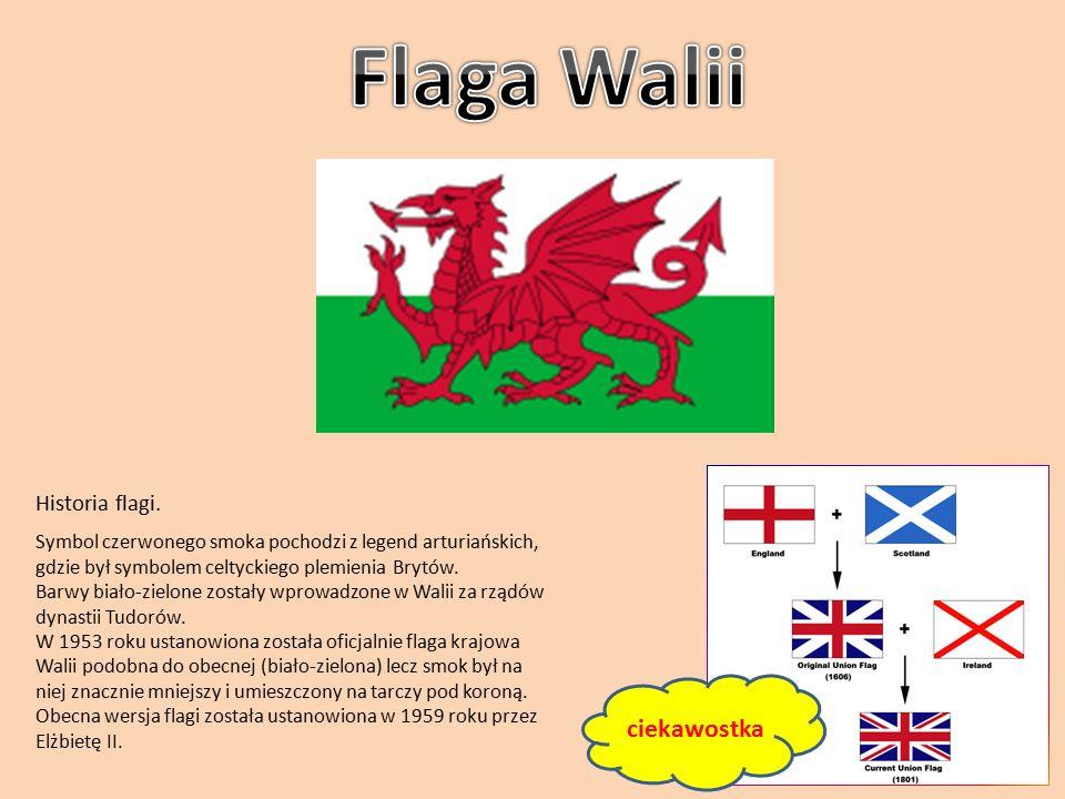 Symbol czerwonego smoka pochodzi z legend arturiańskich, gdzie był symbolem celtyckiego plemienia Brytów.