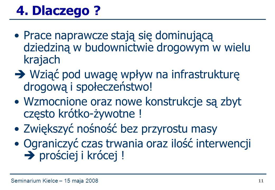 Seminarium Kielce – 15 maja 2008 11 4. Dlaczego .