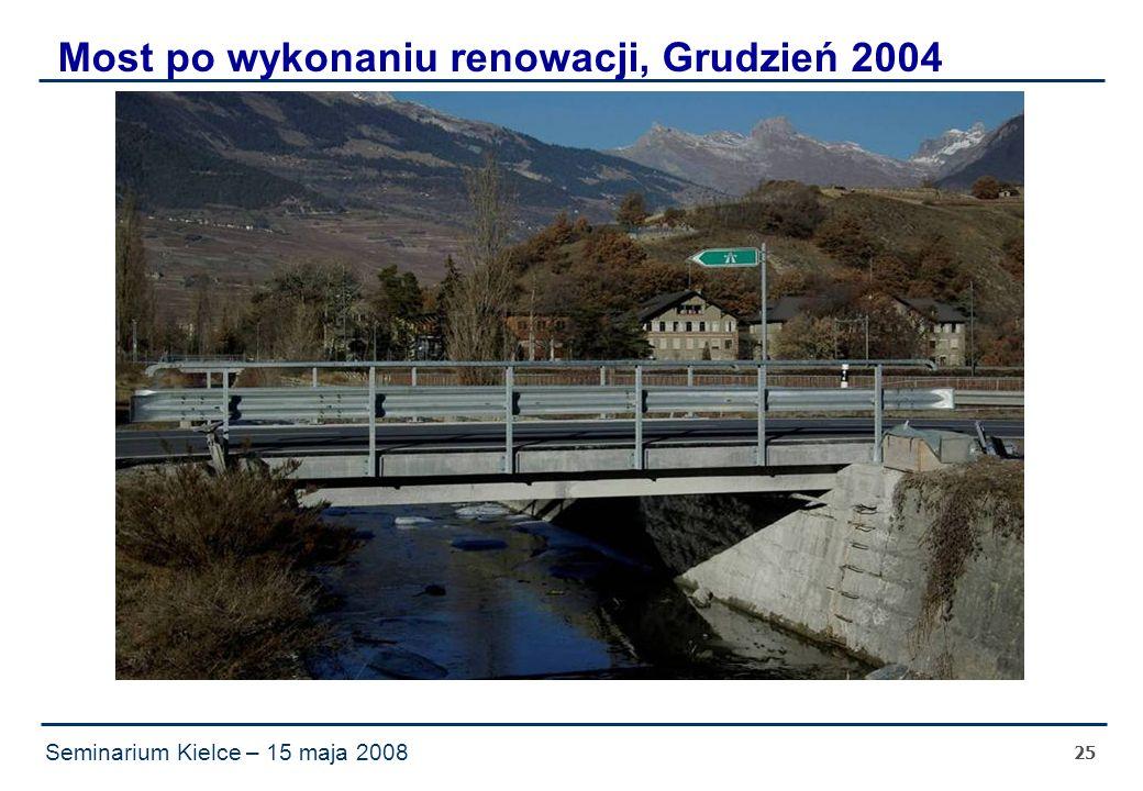 Seminarium Kielce – 15 maja 2008 25 Most po wykonaniu renowacji, Grudzień 2004