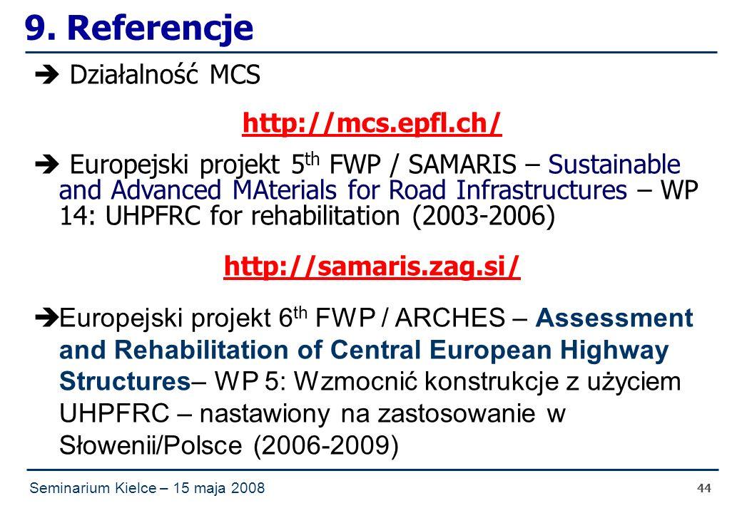 Seminarium Kielce – 15 maja 2008 44 9.