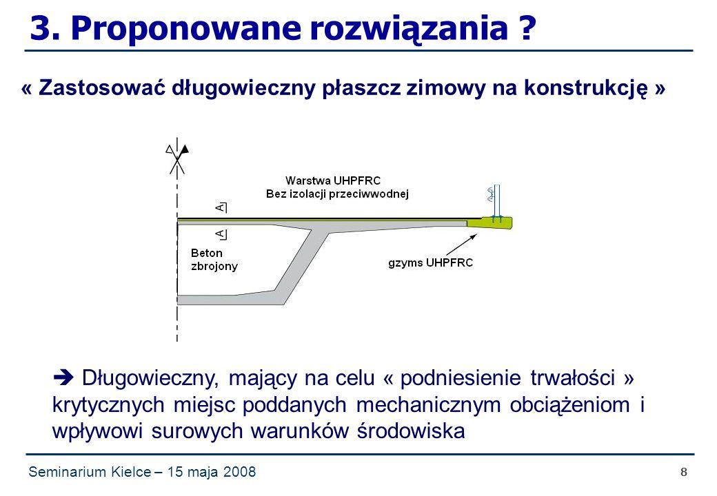 Seminarium Kielce – 15 maja 2008 8 3. Proponowane rozwiązania .