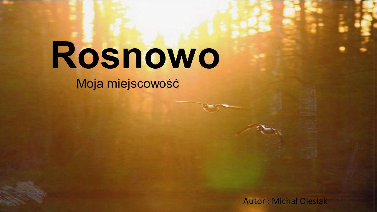 Rosnowo Moja miejscowość Autor : Michał Olesiak