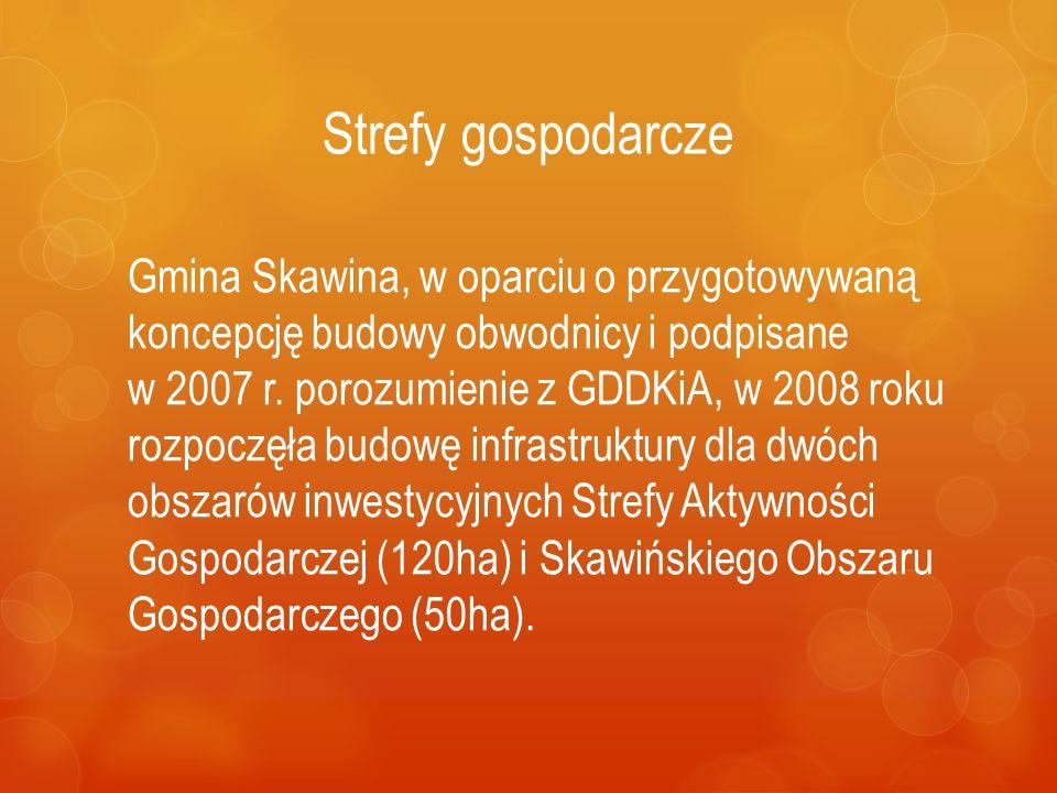 Strefy gospodarcze Gmina Skawina, w oparciu o przygotowywaną koncepcję budowy obwodnicy i podpisane w 2007 r. porozumienie z GDDKiA, w 2008 roku rozpo