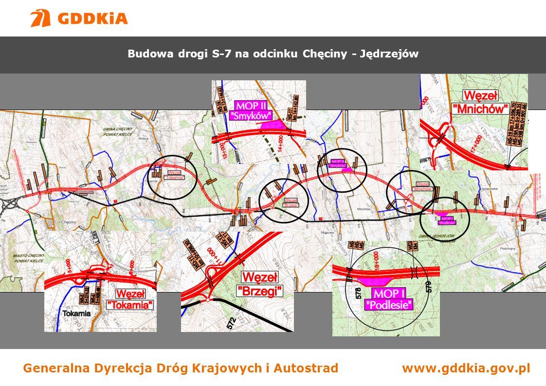 Generalna Dyrekcja Dróg Krajowych i Autostradwww.gddkia.gov.pl Budowa drogi S-7 na odcinku Chęciny - Jędrzejów