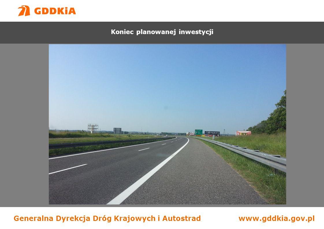 Generalna Dyrekcja Dróg Krajowych i Autostradwww.gddkia.gov.pl Początek zakresu robót Budowa drogi S-7 na odcinku Chęciny - Jędrzejów Koniec planowanej inwestycji