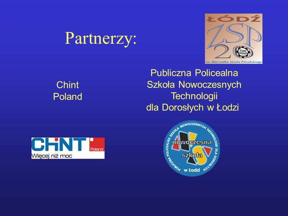 Partnerzy: Chint Poland Publiczna Policealna Szkoła Nowoczesnych Technologii dla Dorosłych w Łodzi