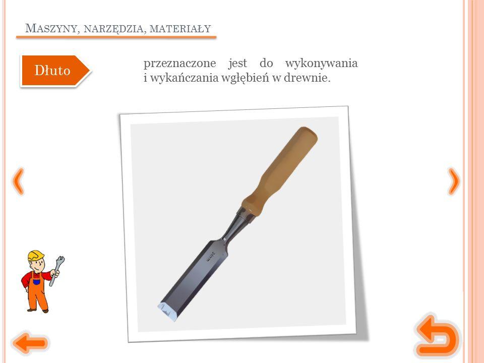 M ASZYNY, NARZĘDZIA, MATERIAŁY przeznaczone jest do wykonywania i wykańczania wgłębień w drewnie.