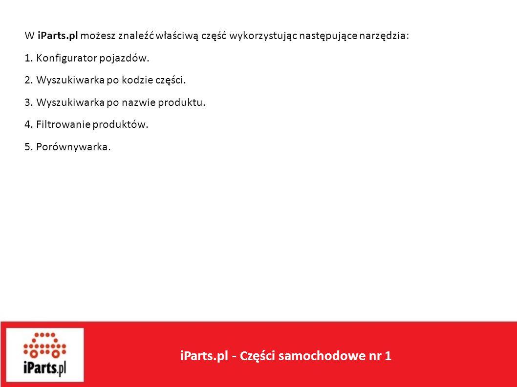 Wstęp W iParts.pl możesz znaleźć właściwą część wykorzystując następujące narzędzia: 1.