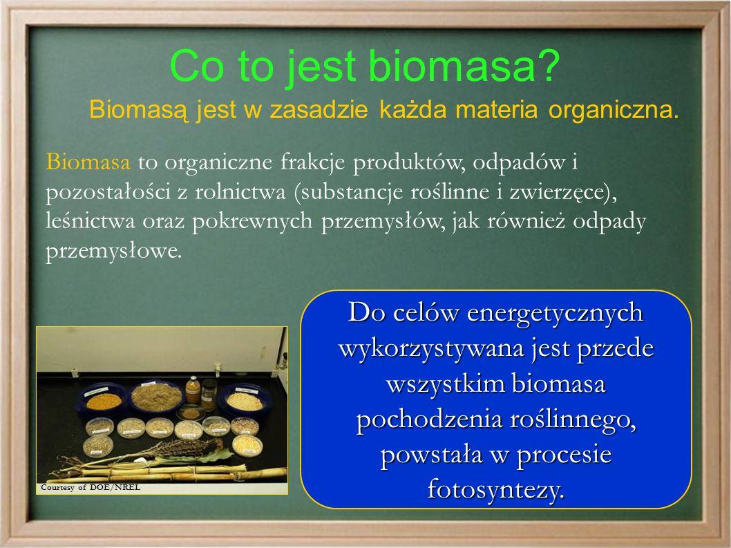 Co to jest biomasa. Biomasą jest w zasadzie każda materia organiczna.