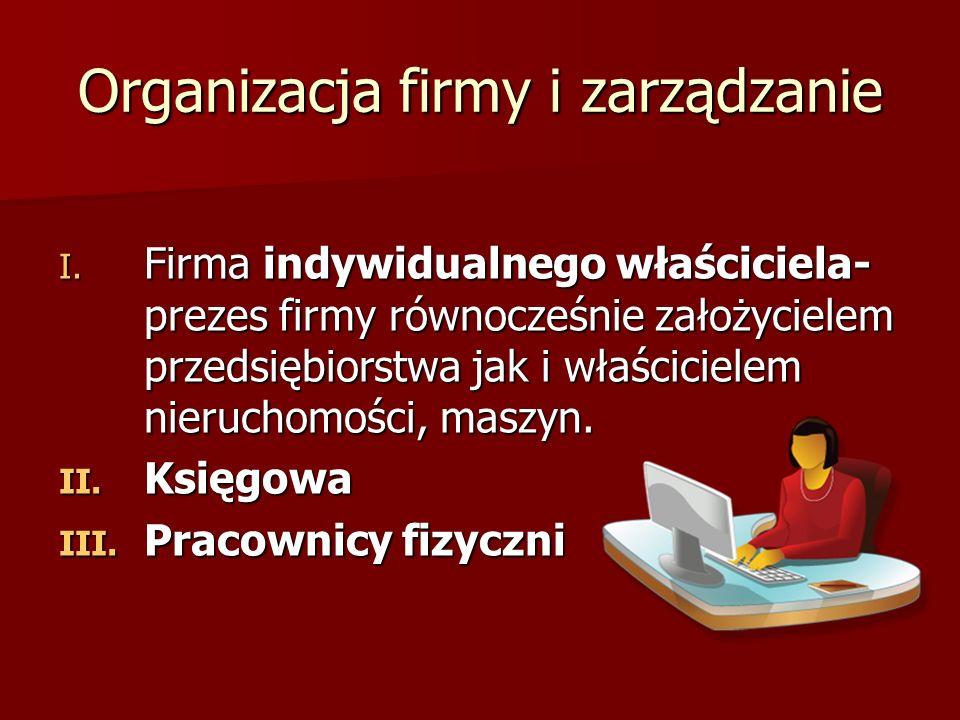 Organizacja firmy i zarządzanie I.