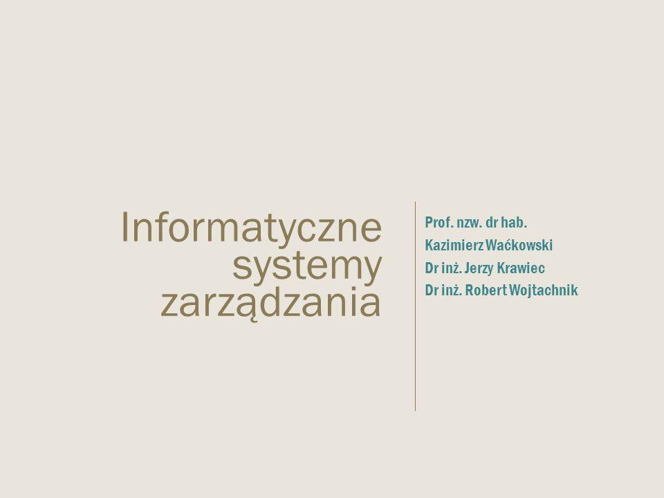  Prof.nzw. dr hab. Kazimierz Waćkowski  Dr inż.