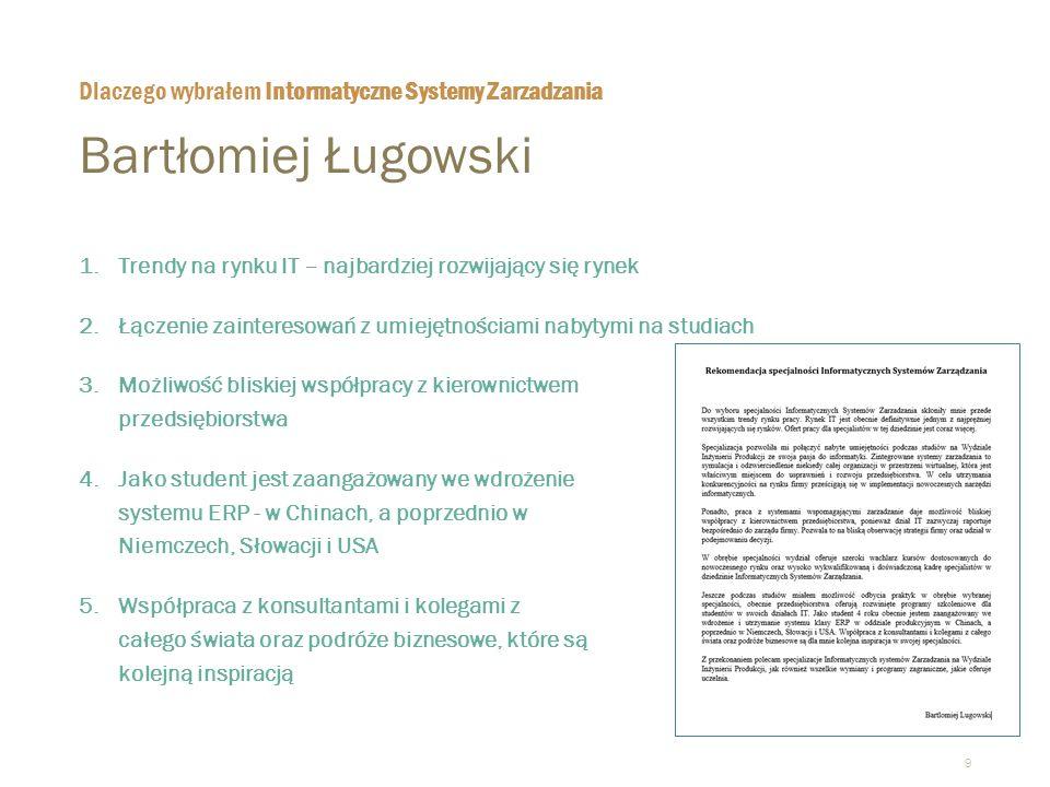10 Kazimierz Waćkowski  Od ponad 40 lat wykłada na różnych uczelniach państwowych i prywatnych łącząc pracę akademicką z praktyką biznesową.