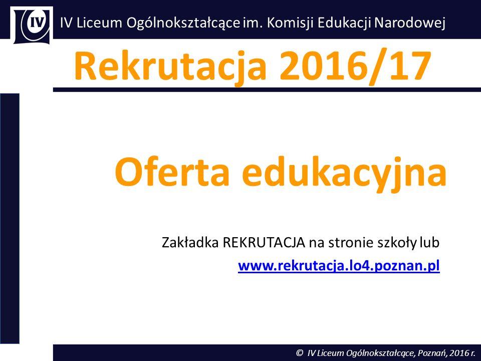 Klasy pierwsze w roku szkolnym 2016/17