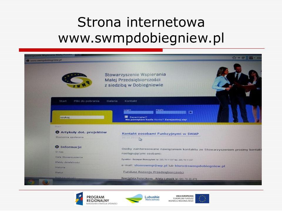 Strona internetowa www.swmpdobiegniew.pl
