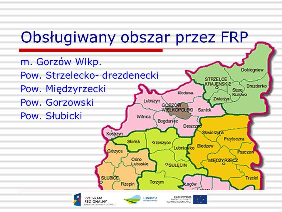 Obsługiwany obszar przez FRP m. Gorzów Wlkp. Pow.