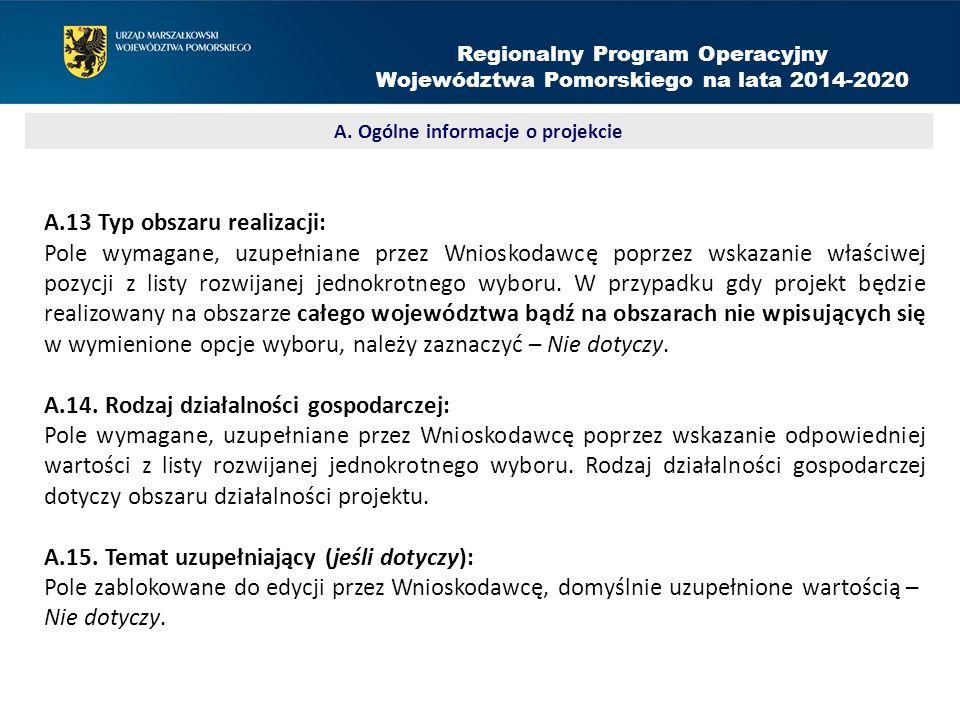 Projekt rozliczany kwotami ryczałtowymi: Należy obligatoryjnie zaznaczyć TAK w przypadku projektów, których wartość środków publicznych nie przekracza w PLN równowartości 100 000 EUR.