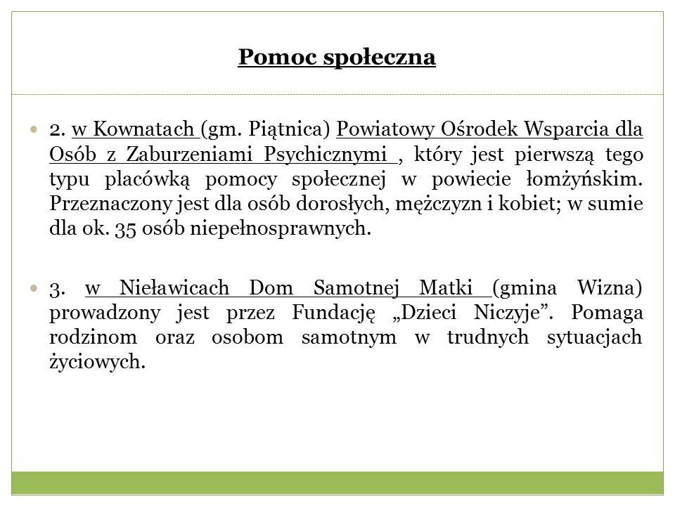 Pomoc społeczna 2. w Kownatach (gm.