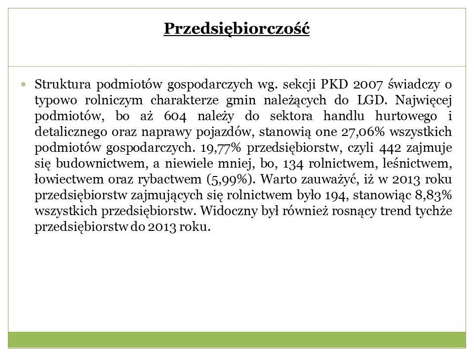 Przedsiębiorczość Struktura podmiotów gospodarczych wg.