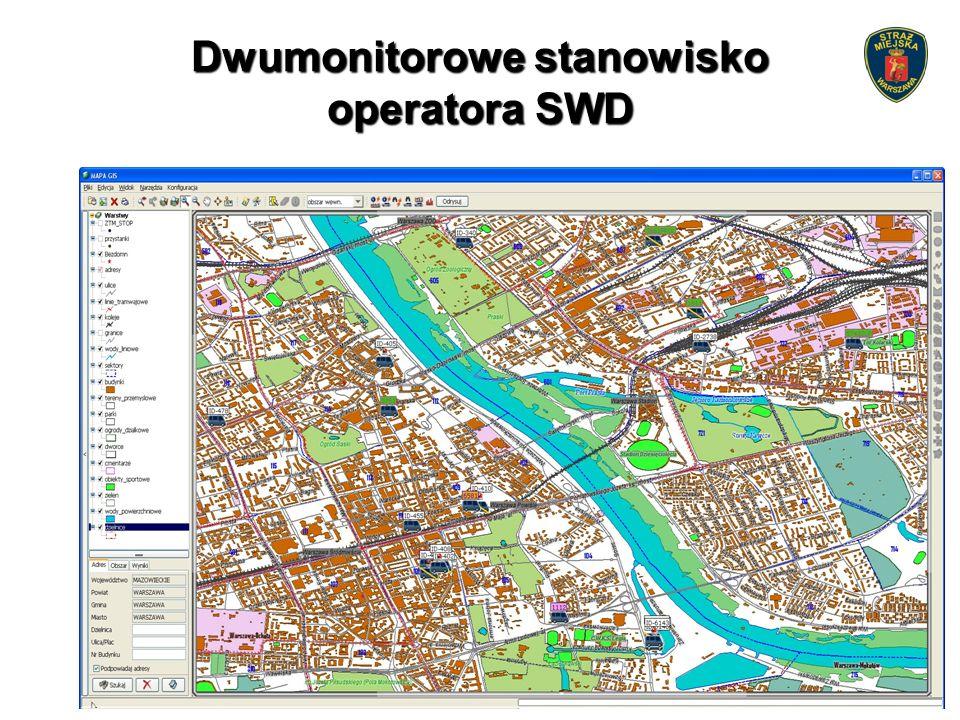 Dwumonitorowe stanowisko operatora SWD