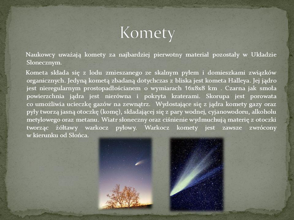 Naukowcy uważają komety za najbardziej pierwotny materiał pozostały w Układzie Słonecznym.